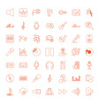 49 audio icons vector image vector image
