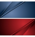 Abstract blue and red soft lines banners vector image vector image