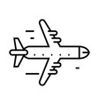 aeroplane line icon concept sign outline vector image