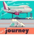 Airport and airplane flat vector image vector image