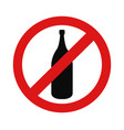 alcohol prohibition icon vector image