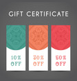 arabic discount coupon template vector image