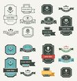 Banner And Ribbon Design set vector image vector image