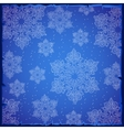 Beautiful snowflakes on a blue background vector image