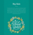 big winter sale with text vector image