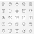 Box icons set vector image