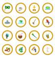 brazil icon circle vector image vector image