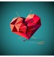 Broken heart with acupuncture needles