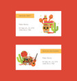 business cards with mexican food ond vector image