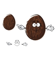 Cartoon cheerful coconut fruit character vector image