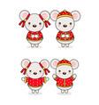 chinese new year cartoon vector image vector image