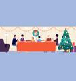 christmas family dinner holiday living room vector image