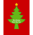 Christmas tree card design vector image vector image