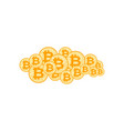 cloud bitcoin stock crypto currency virtual vector image vector image