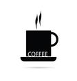 coffee cup black vector image vector image
