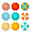 Colorful Sun Umbrella Set vector image