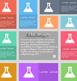 Conical Flask icon sign Set of multicolored vector image