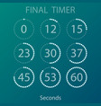 countdown circles timers set vector image
