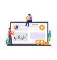 cryptocurrency marketplace vector image vector image