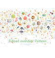 cute cartoon back to school and college fun vector image vector image