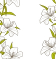 Cute Ornamental Seamless Texture with Lily Flowers vector image