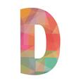 D alphabet2 vector image