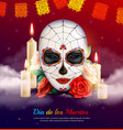 day of dead composition vector image vector image
