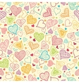 Doodle Hearts Seamless Pattern Background vector image vector image