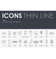 Dubai Thin Line Icons vector image vector image