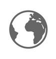 earth planet globe logo design earth planet vector image vector image
