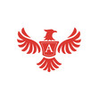 elegant phoenix with letter a logo vector image vector image