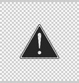 exclamation mark in triangle icon isolated vector image