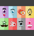 eye cartoon 01 vector image