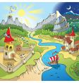 fairy-tale landscape vector image vector image