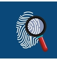 finger print search secure data vector image