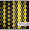 floral mesh gold vintage geometric seamless vector image vector image