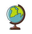 globe cartoon icon isolated on a white background vector image vector image