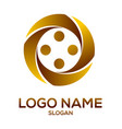 golden circle element logo vector image