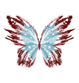 Grunge American Butterfly vector image vector image