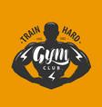 gym club logo or emblem sport concept vector image vector image