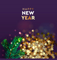 happy new year modern background xmas sparkling vector image