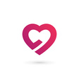 Heart symbol logo icon design template May be used vector image