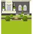 house facade garden vector image vector image