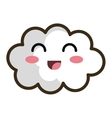 kawaii cartoon white cloud vector image vector image