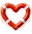 Life buoy in the shape of heart vector image vector image