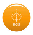 linden leaf icon orange vector image vector image
