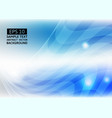 line wave blue color abstract background vector image vector image