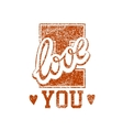 Love Grunge Stamp vector image
