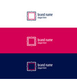 minimal geomertic square concept design vector image vector image
