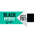 minimal style black friday sale banner vector image vector image